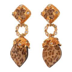 1980s Christian Lacroix Défilé Haute Couture Dangle Earrings