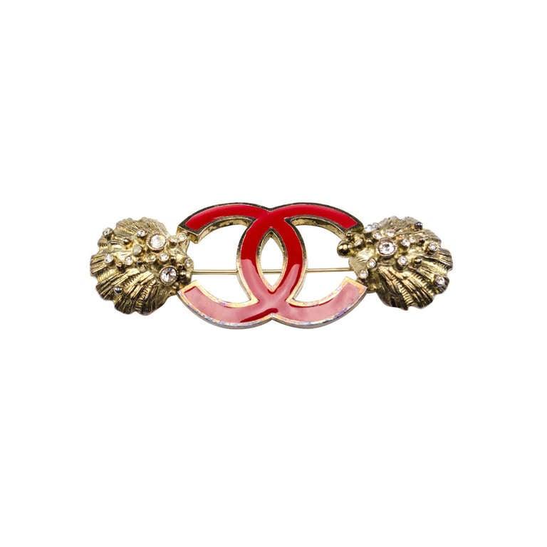 Chanel Seashell Brooch For Sale