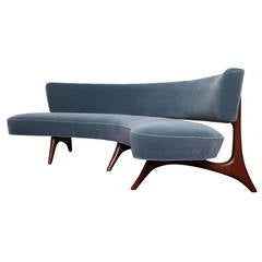 Rare Curved Sofa by Vladimir Kagan