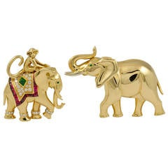 Cartier Elephant Brooches