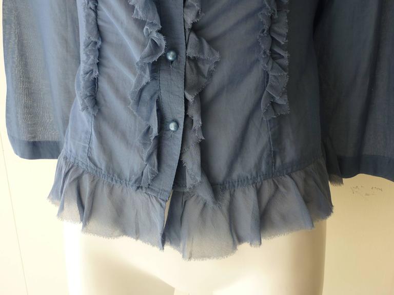 Women's Tsumori Chisato Blue Feminine Blouse  For Sale