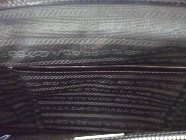 Prada tessuto nylon and leather trim doctor frame bag at 1stdibs