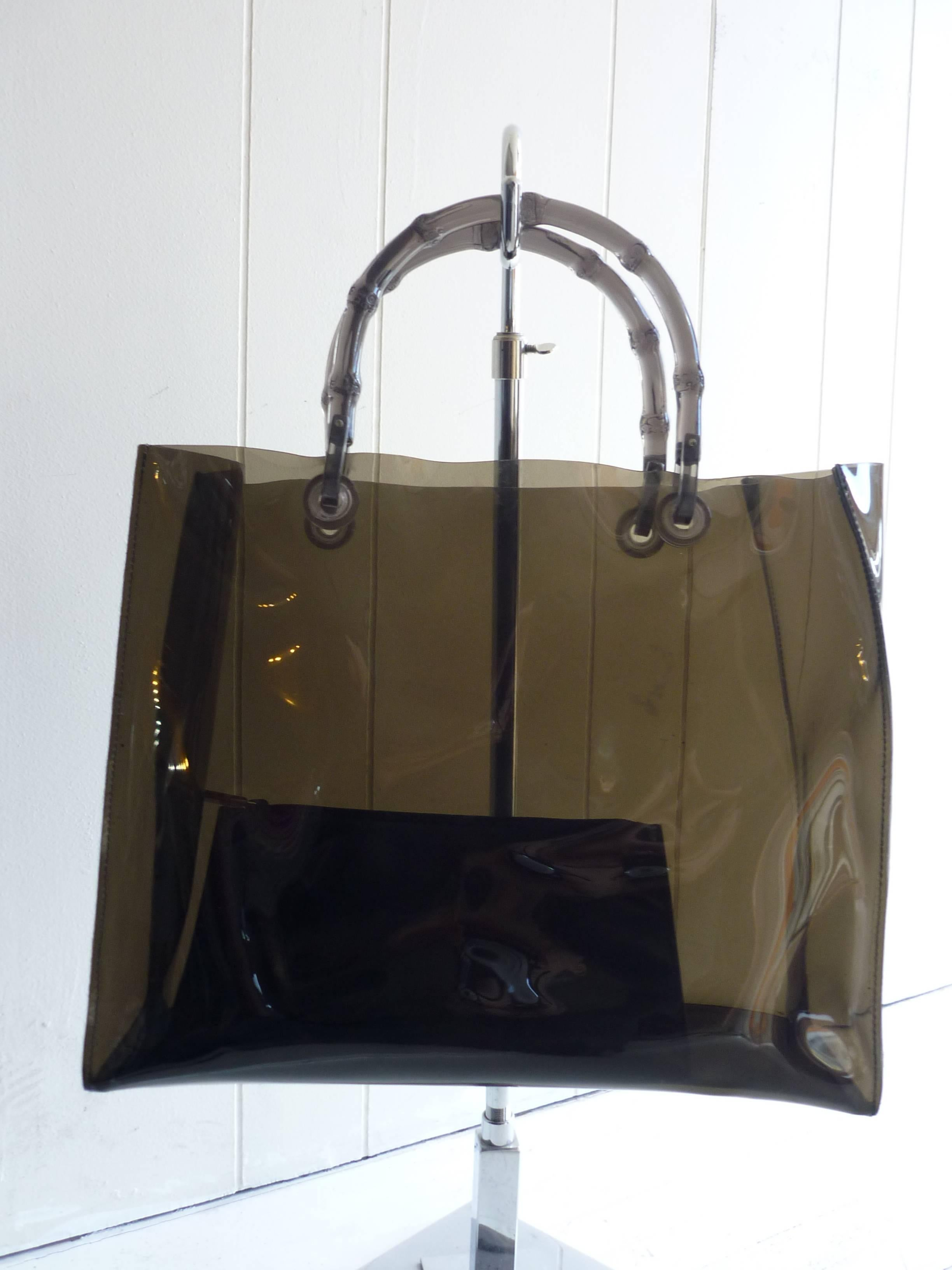 5f40139569b Gucci Plastic Collectible Tote Bag with Leather Pouch at 1stdibs
