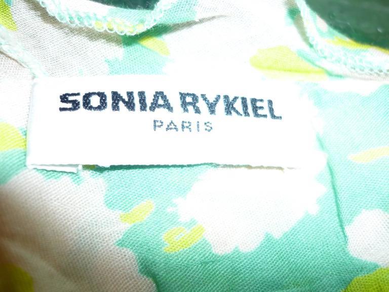 Sonia Rykiel Flower Print Dress  For Sale 2