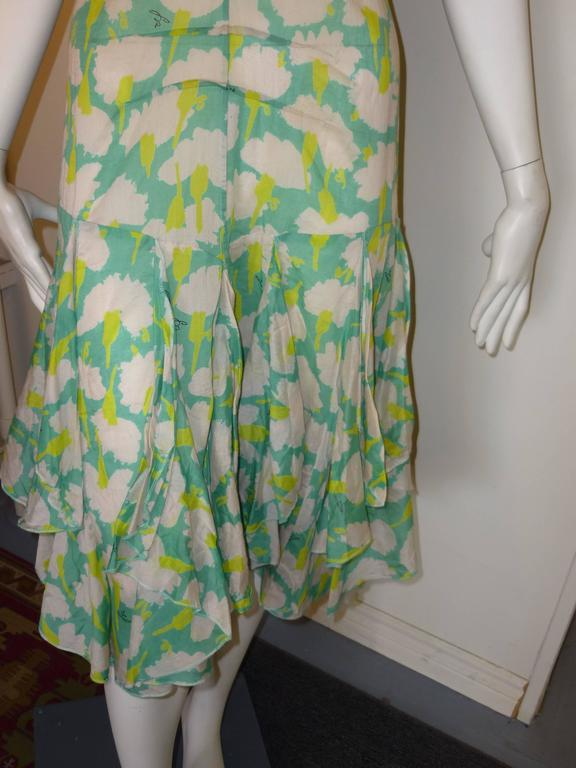 Sonia Rykiel Flower Print Dress  In Excellent Condition For Sale In Port Hope, ON