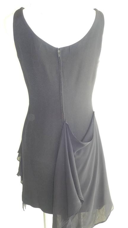 Beautifully elegant LBD with the addition of a draped chiffon overlay.