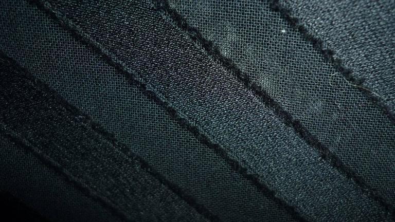 A.K.R.I.S Black Cotton Dress (M-M+) For Sale 1