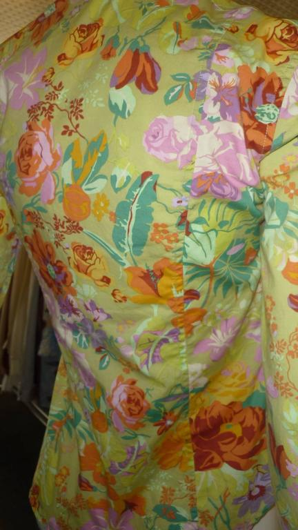 ETRO Cotton Floral Shirt (42 ITL) For Sale at 1stdibs