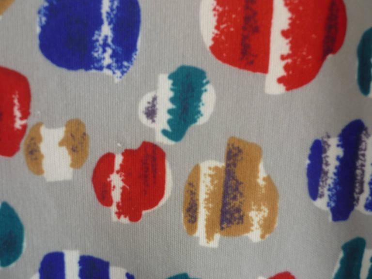 Gray Vera Op Art Shirt, Late 1960s  For Sale