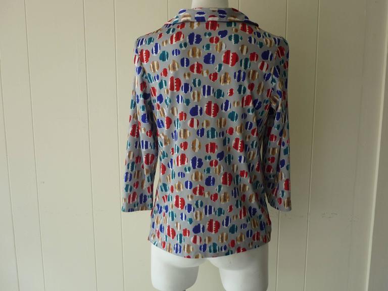 Women's Vera Op Art Shirt, Late 1960s  For Sale