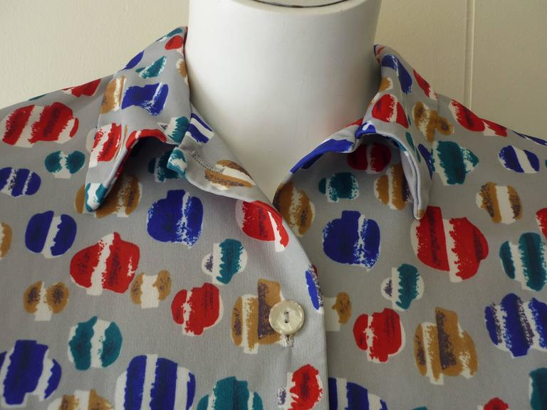 Vera Op Art Shirt, Late 1960s  For Sale 1