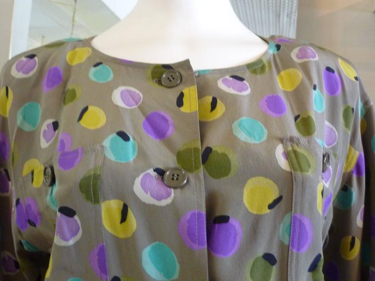 1990s Valentino Miss V Silk Dress (46 Itl) 2