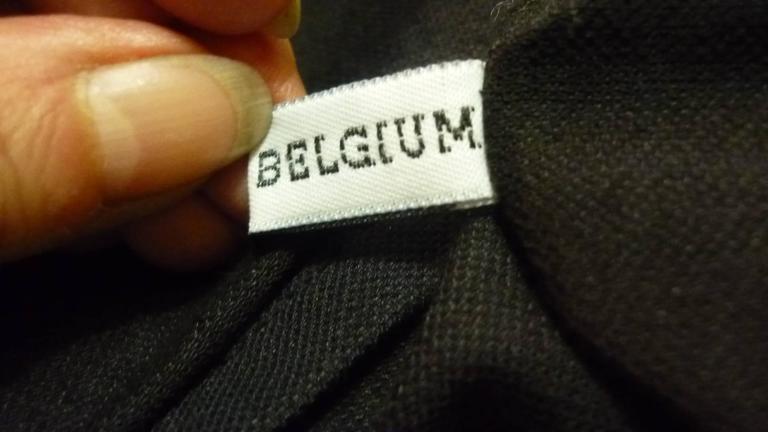 1990s Ann Demeulemeester Assymetrical Black Shirt (38 Belgium) 4