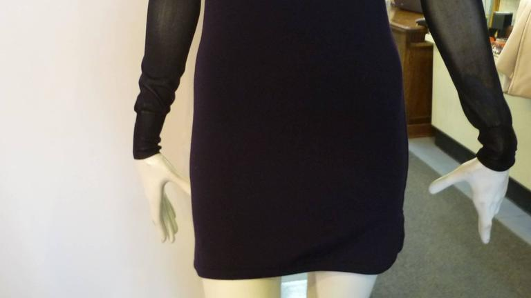 eec110bdd62 Isabel Marant Aglaee Sheer-Paneled Wool Blend Mini Dress In Excellent  Condition For Sale In