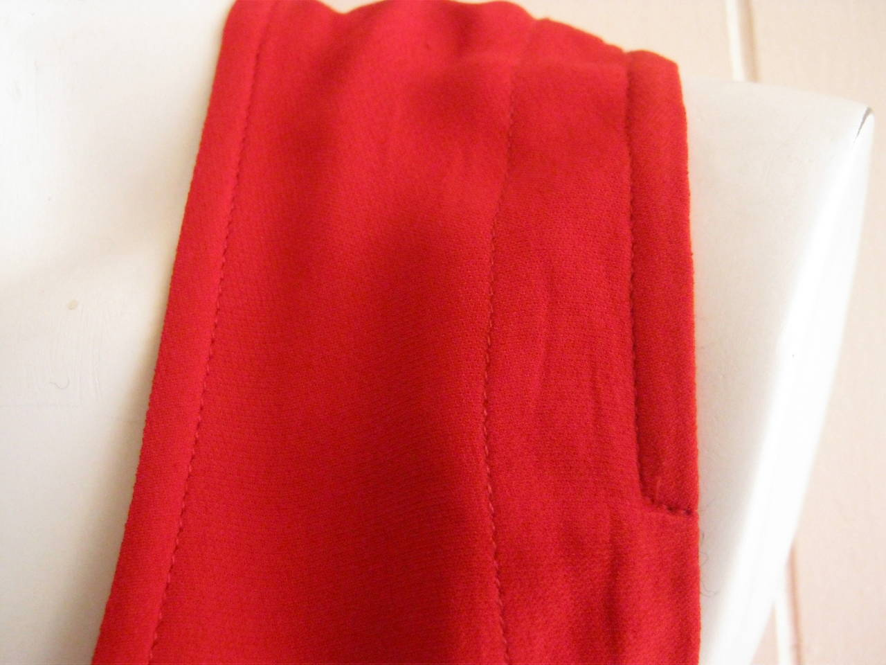 1990s Dries Van Noten Simple Red Dress (38) 3