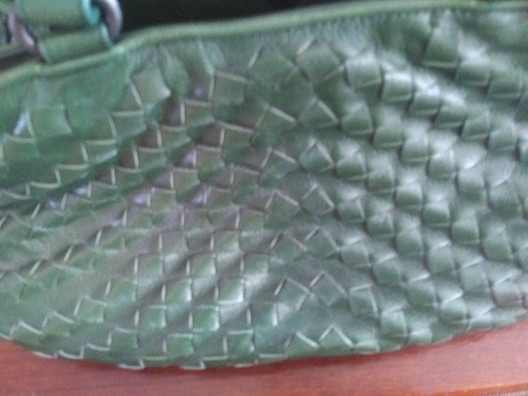 Bottega Veneta Irish Green Intrecciato Nappa Leather Handbag, 2008  For Sale 3
