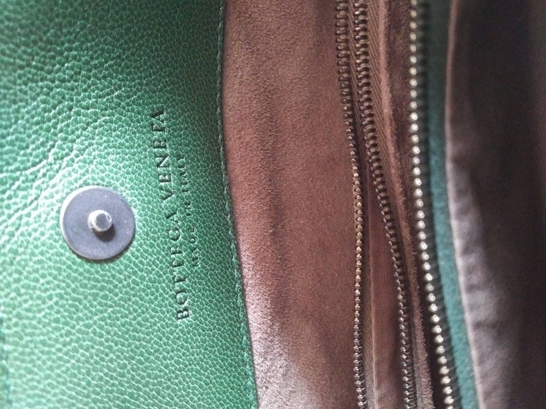 Women's Bottega Veneta Irish Green Intrecciato Nappa Leather Handbag, 2008  For Sale