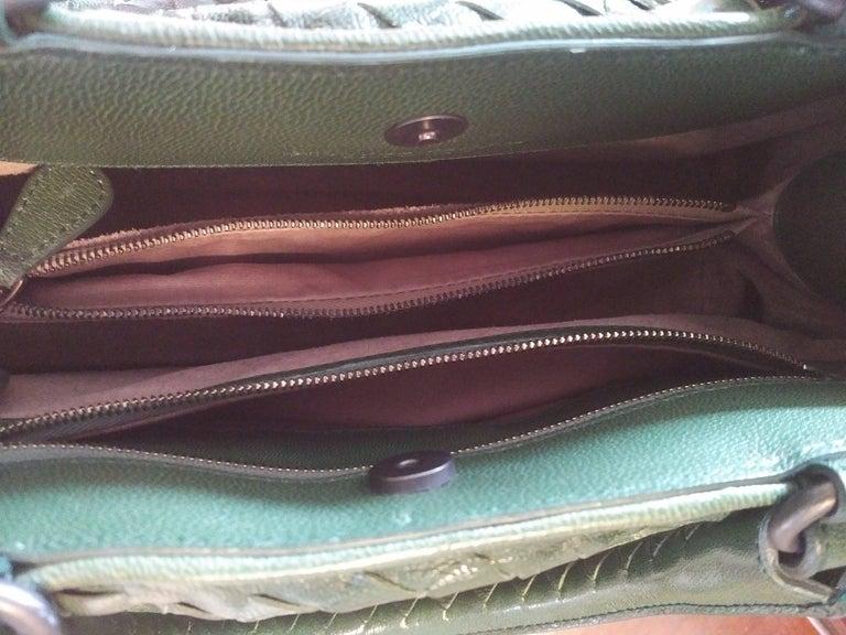 Bottega Veneta Irish Green Intrecciato Nappa Leather Handbag, 2008  In Excellent Condition For Sale In Port Hope, ON