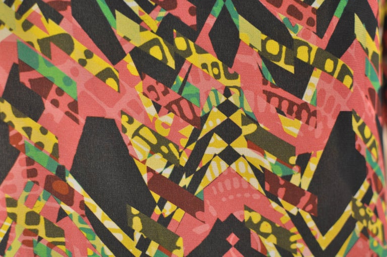 M. Missoni Abstract Print Silk Dress (40 ITL) NWT  In New Condition For Sale In Port Hope, ON