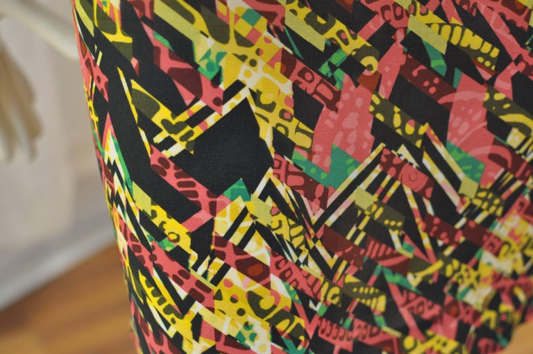 Women's M. Missoni Abstract Print Silk Dress (40 ITL) NWT  For Sale