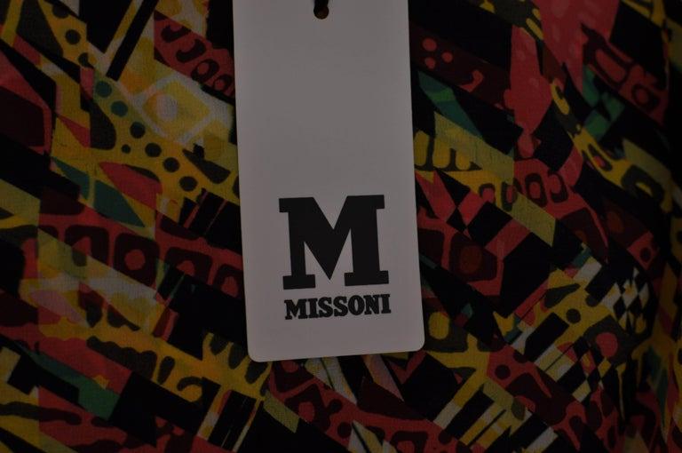M. Missoni Abstract Print Silk Dress (40 ITL) NWT  For Sale 2