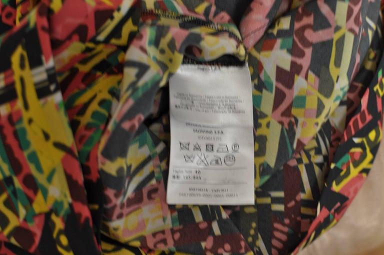 M. Missoni Abstract Print Silk Dress (40 ITL) NWT  For Sale 4
