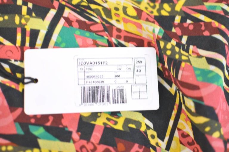 M. Missoni Abstract Print Silk Dress (40 ITL) NWT  For Sale 3