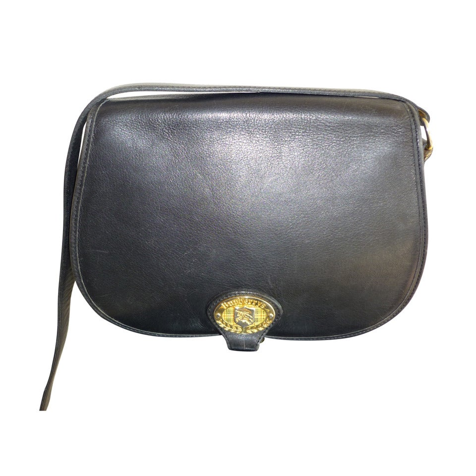 Vintage Burberrys Black Leather Crossbody Handbag at 1stdibs 6e51ee6693ace