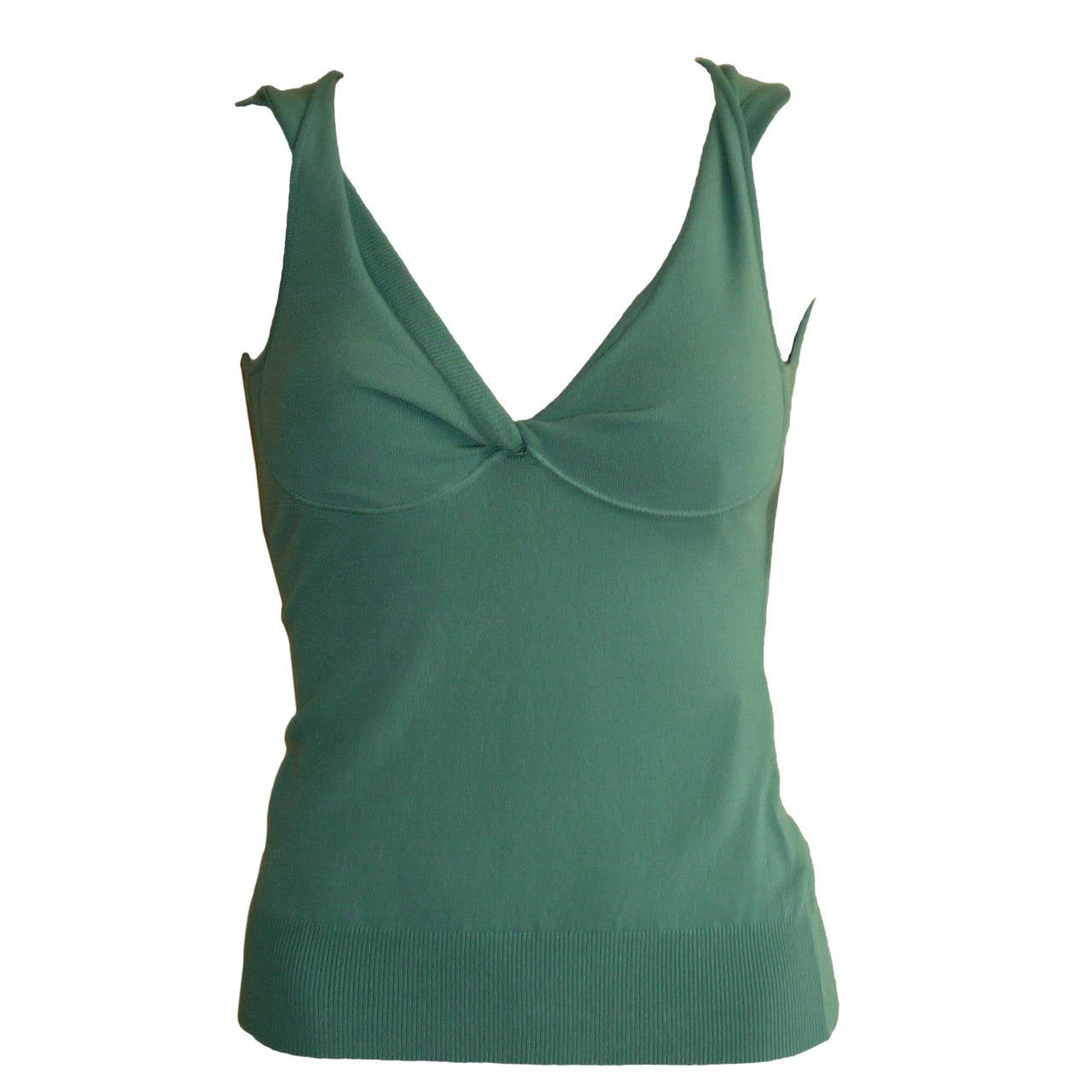 Dolce & Gabbana Soft Green Top NWT 40 ITL 1