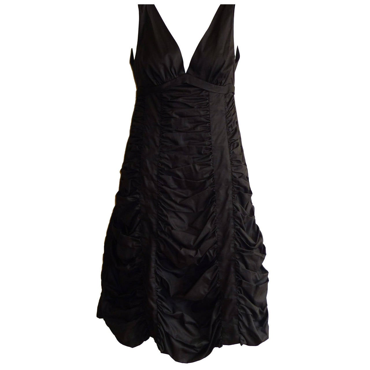 Marc Jacobs Chocolate Brown Ruched Dress