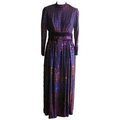 Late 60s Gino Charles Op Art Gown