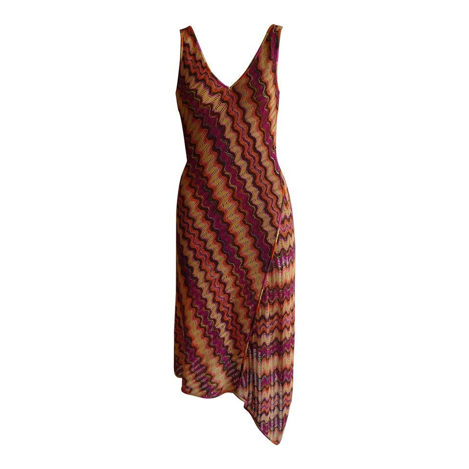 Missoni Orange Label Zig Zag Crochet Dress at 1stdibs