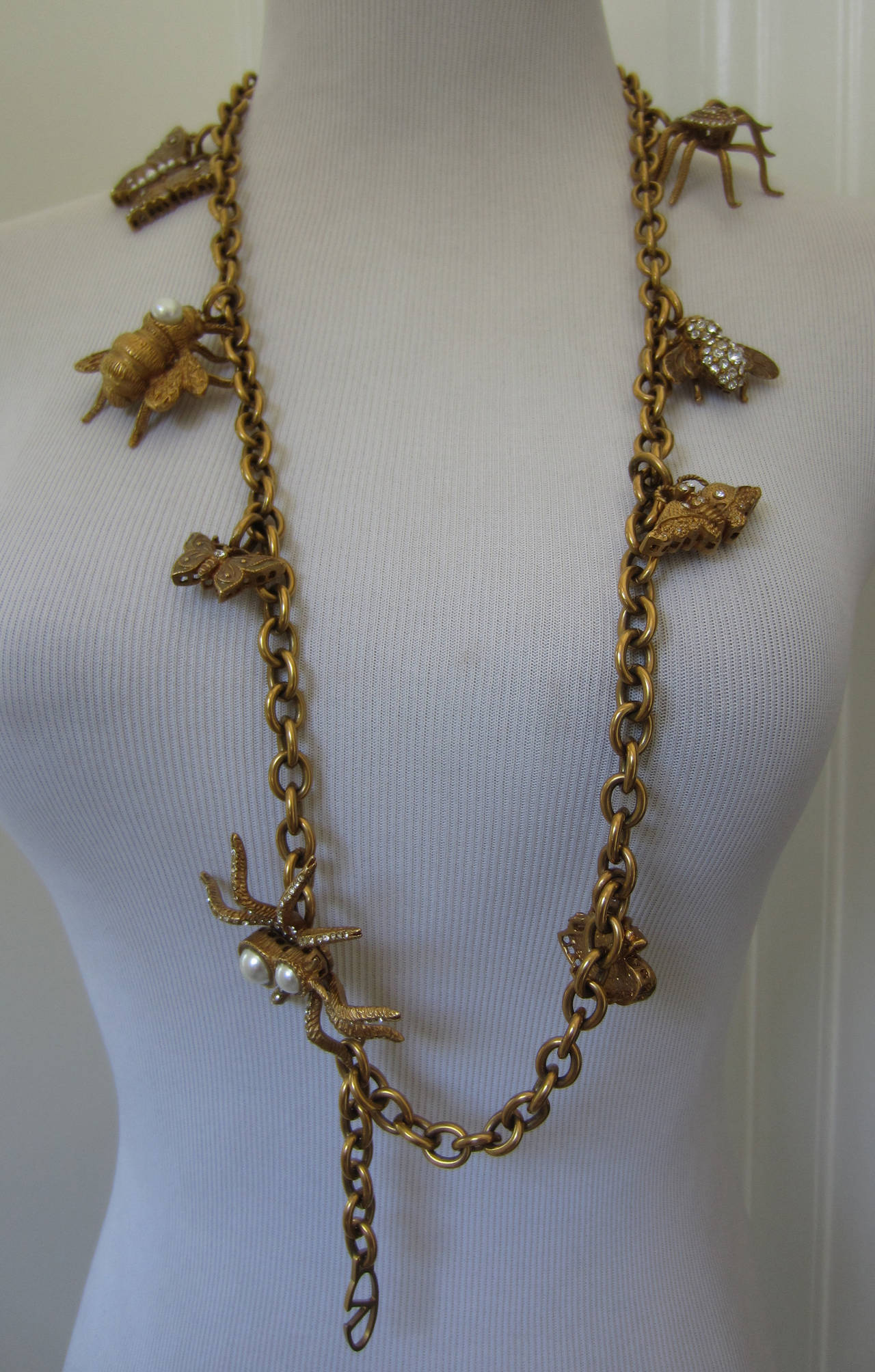 Brown Valentino Beautiful and Rare Charm Belt For Sale