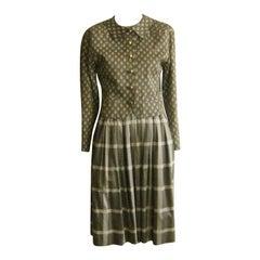Balenciaga Mixed Pattern Cotton Suit, 1980s