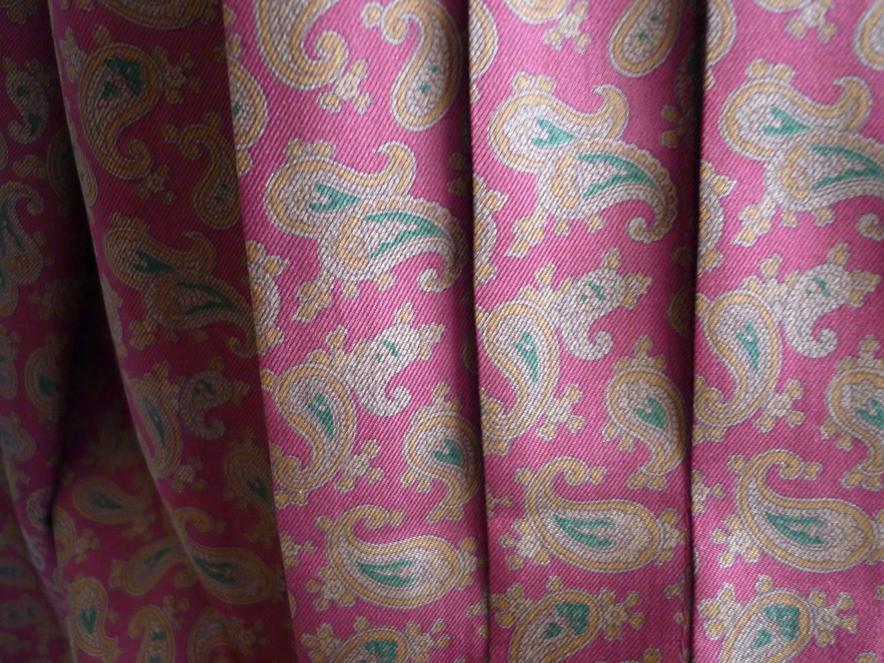 1980s CHANEL Paisley Silk Dress 4