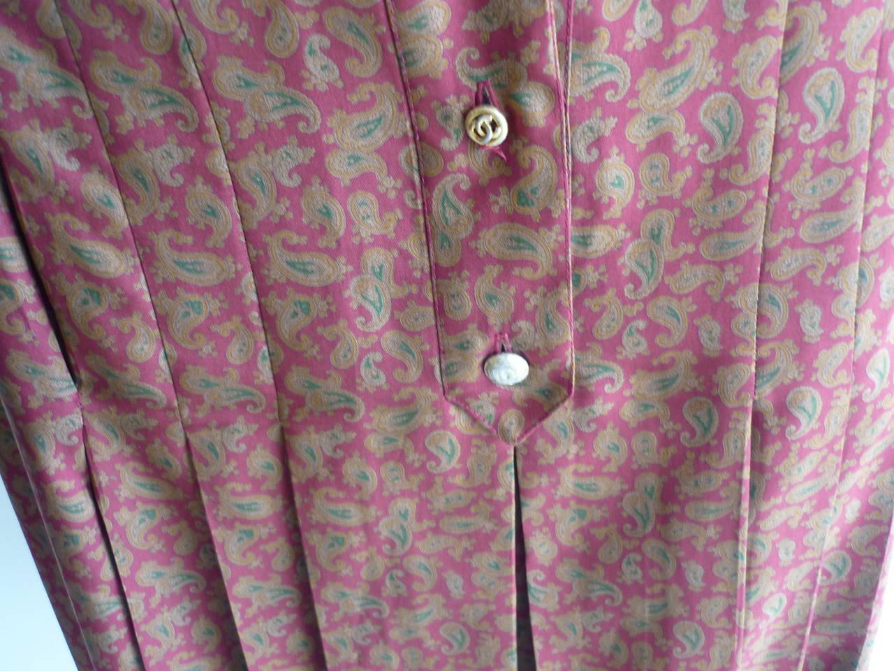 1980s CHANEL Paisley Silk Dress 7