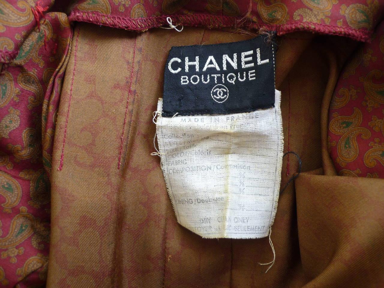 1980s CHANEL Paisley Silk Dress 8