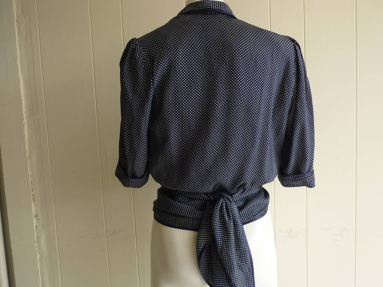 Black 1980s Jean Louis Scherrer Versitile Silk Blouse #279463 For Sale