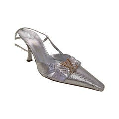 Metallic Snake louis Vuitton  Slingbacks  37