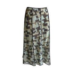 Cerruti 1881 Mettalic Geometric Design Skirt NWT (36 D)