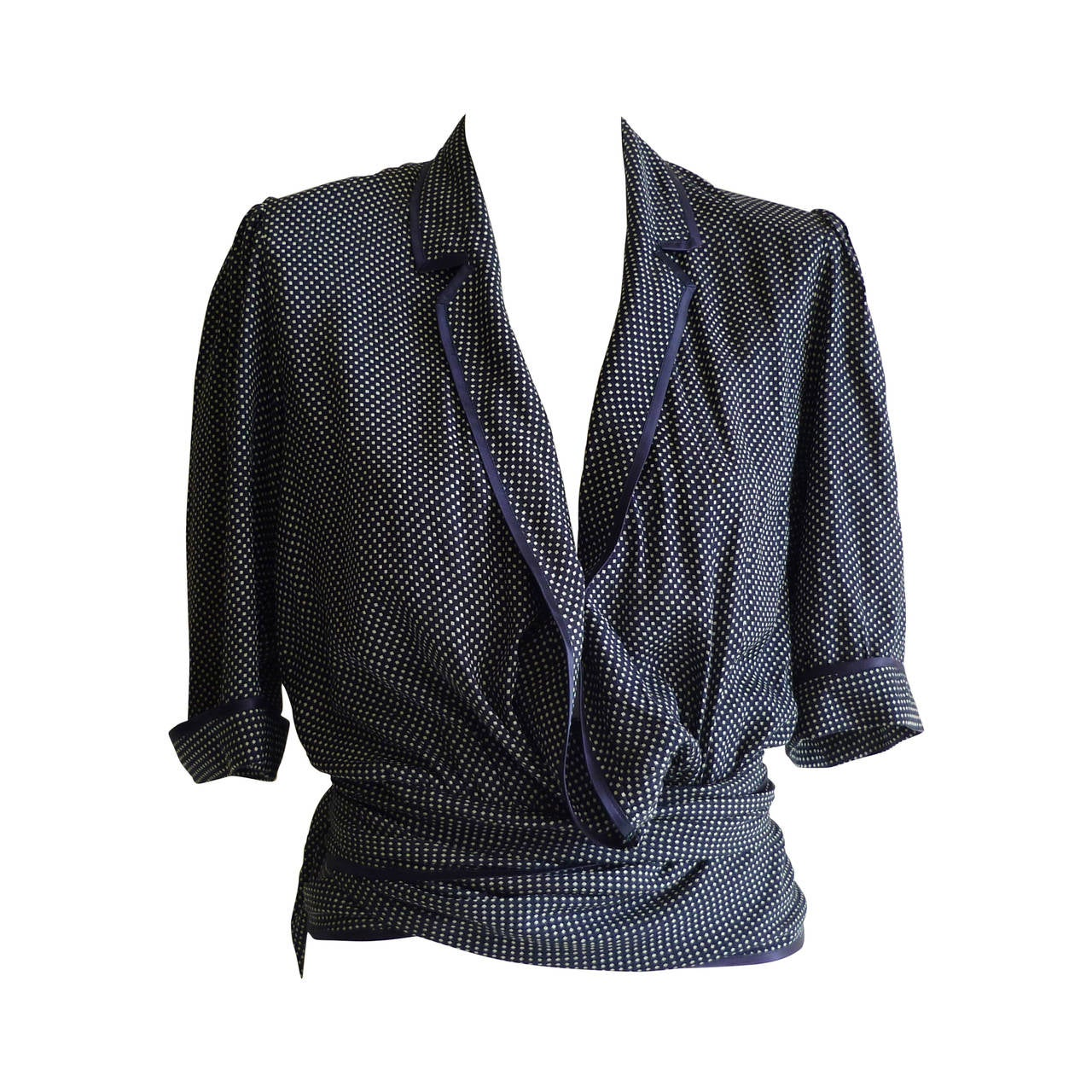 1980s Jean Louis Scherrer Versitile Silk Blouse #279463 For Sale