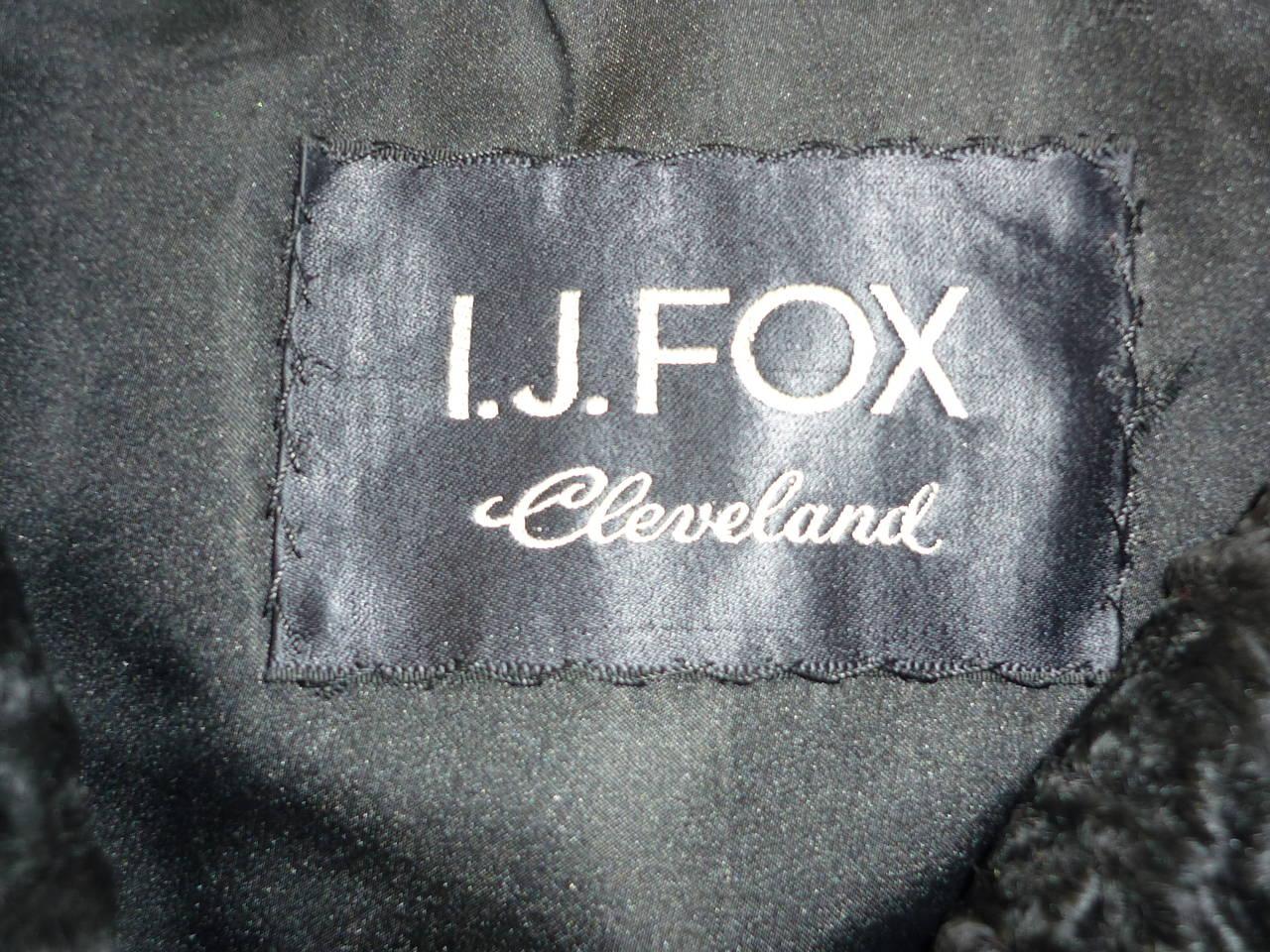 1940s - 50s Black Persian Lamb Jacket 6-8 3