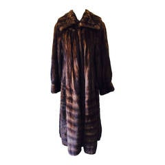 Lagerfeld for Natural Furs Luxurious Full Length Mink Coat Size 8