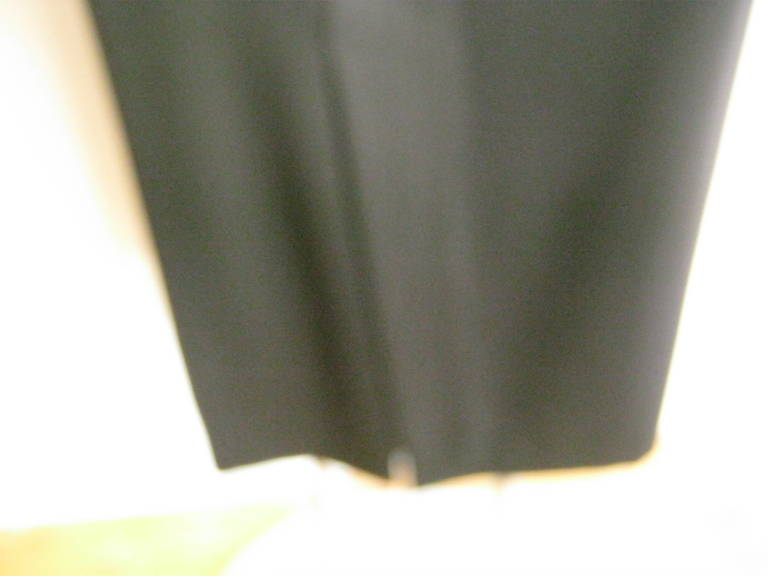 Women's Ines de la Fressange Black Wool Skirt Never Worn For Sale