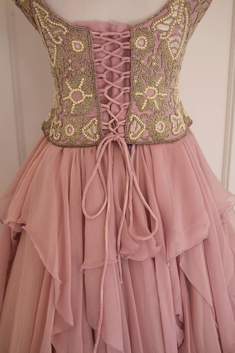Eavis & Brown Fairy Tale Like Ball Skirt and Bustier Gown 7