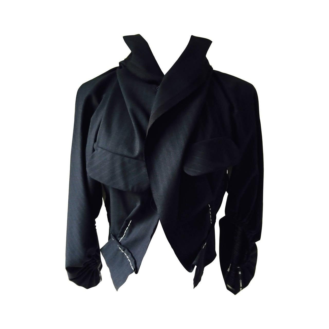 unique vintage comme des gar ons jacket at 1stdibs. Black Bedroom Furniture Sets. Home Design Ideas