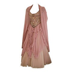 Eavis & Brown Fairy Tale Like Ball Skirt and Bustier Gown
