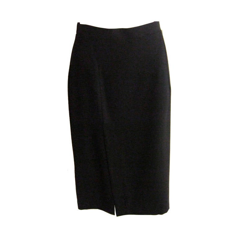 Ines de la Fressange Black Wool Skirt Never Worn