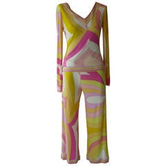 2000s Emilio Pucci Three-Piece Silk Jersey Outfit