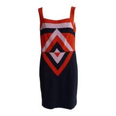 Rena Lange Fashion Show Red Label Mod Dress